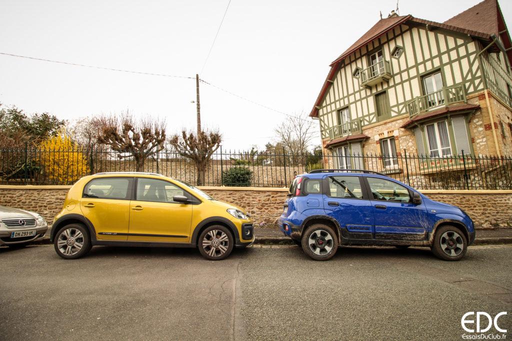 Essai Fiat Panda City Cross VW Cross-Up
