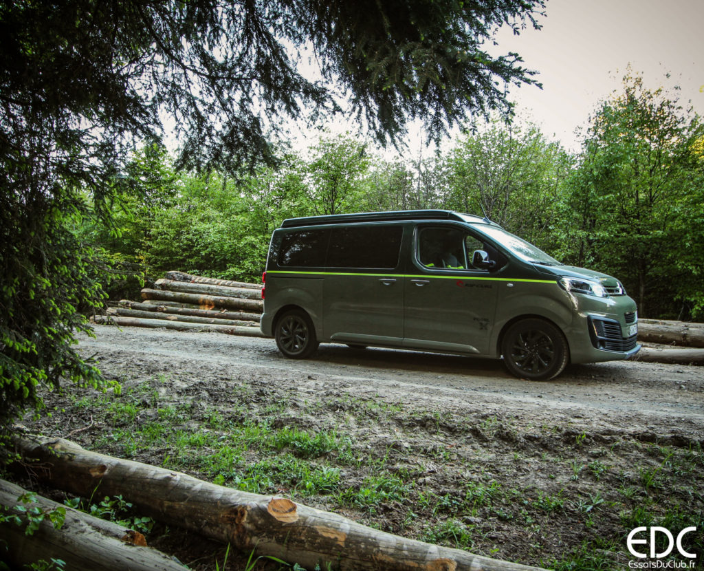 Citroen Space Tourer Rip Curl camping sauvage