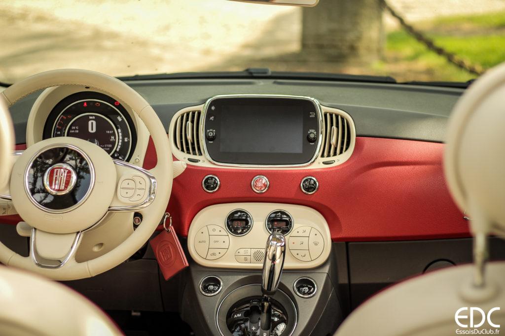 Fiat 500C 60th tableau de bord