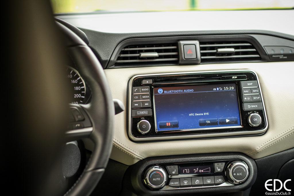 Nissan Micra écran tactile