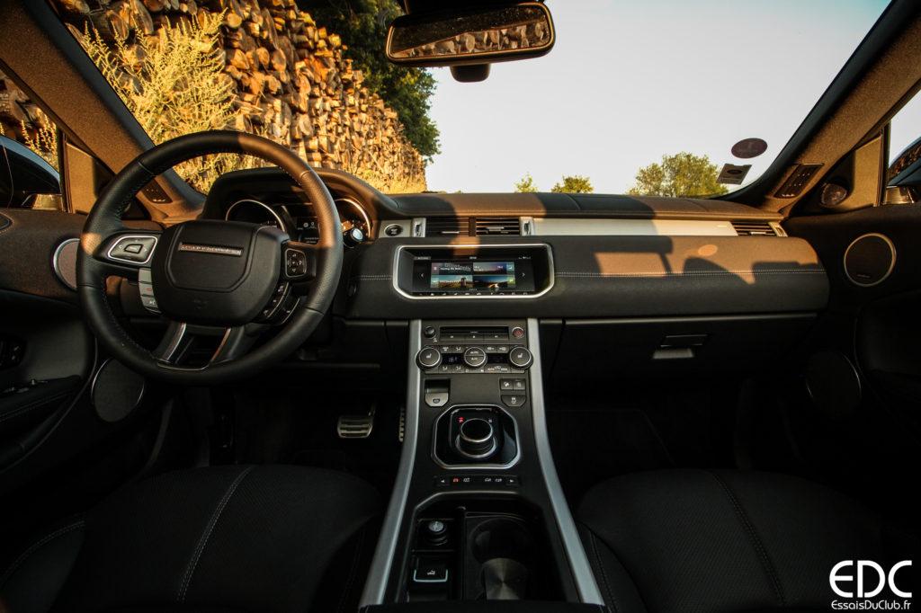 Range Rover Evoque tableau de bord
