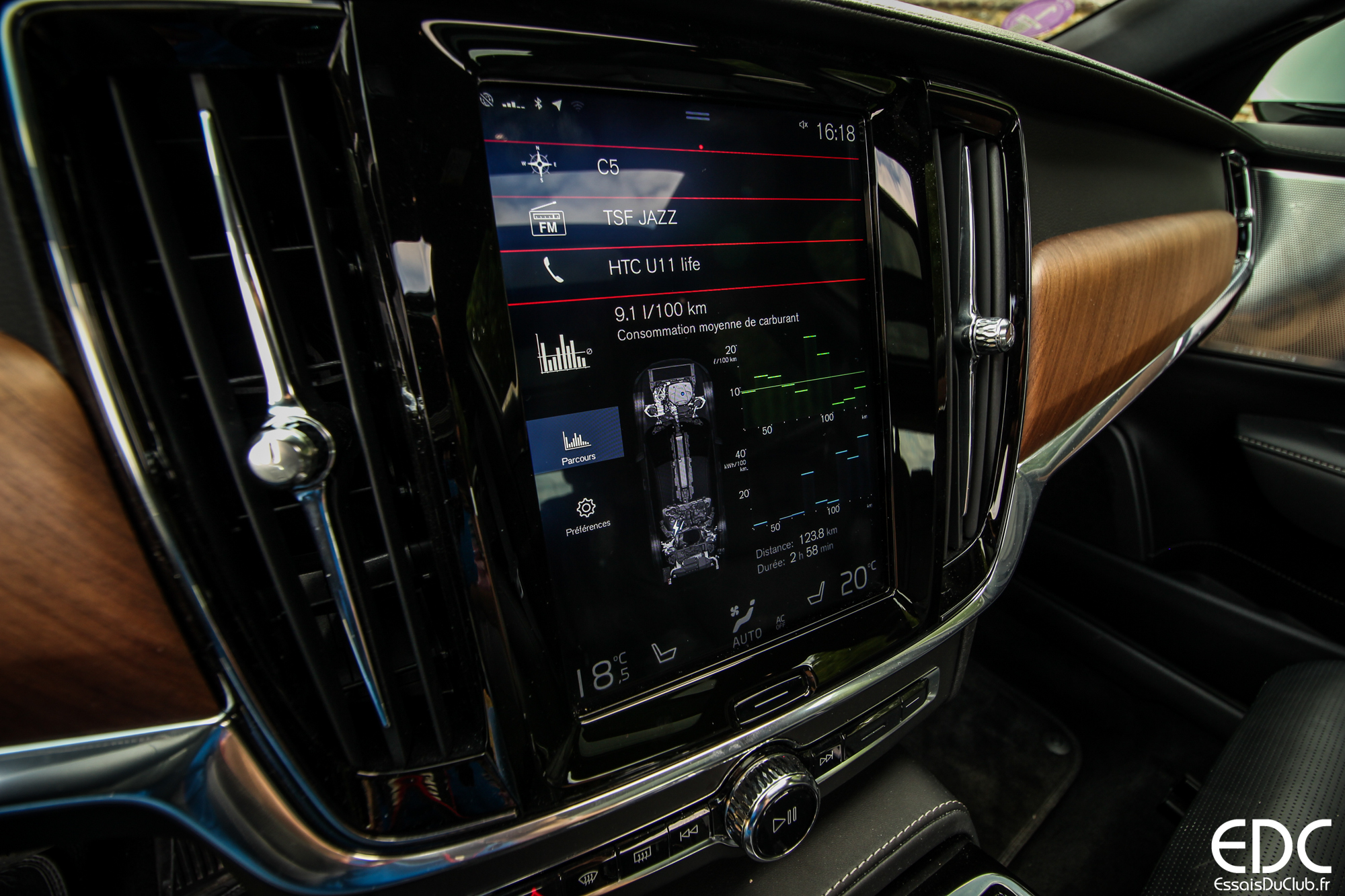 Volvo V90 écran