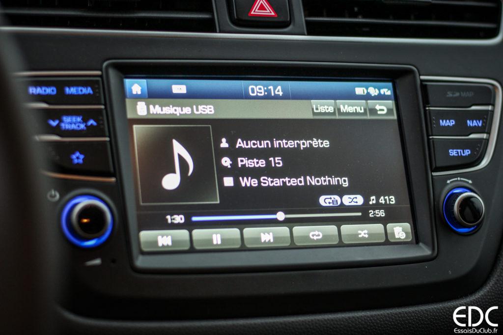 Hyundai i20 écran