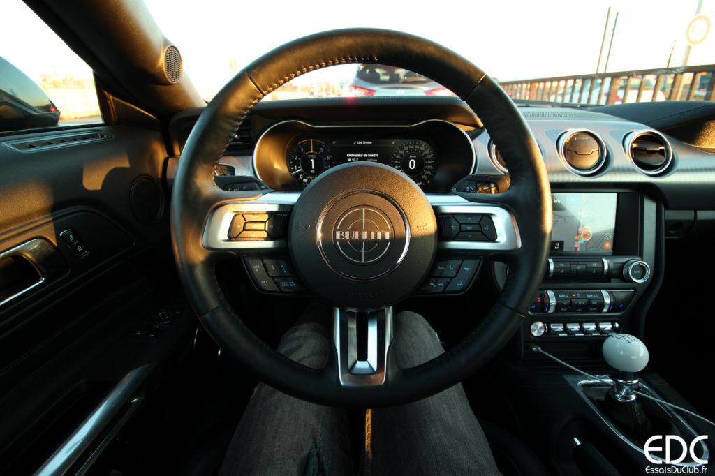 Mustang behind the wheel
