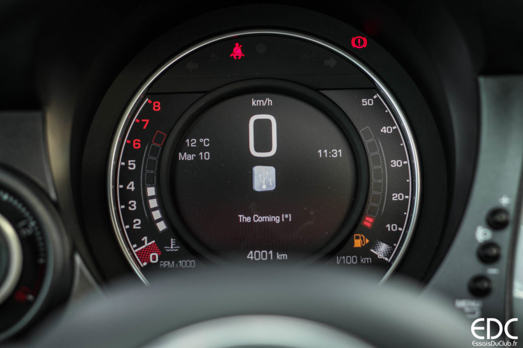 Abarth 595 compteur