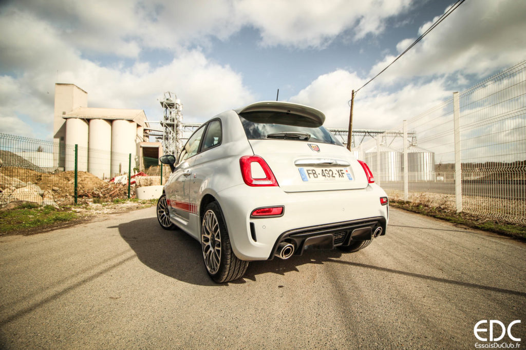 Abarth 595 rear